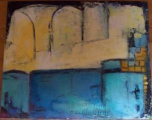 Den Blå Mur 50x60 solgt