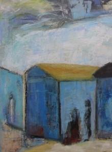 De Blå Huse 50x70 solgt